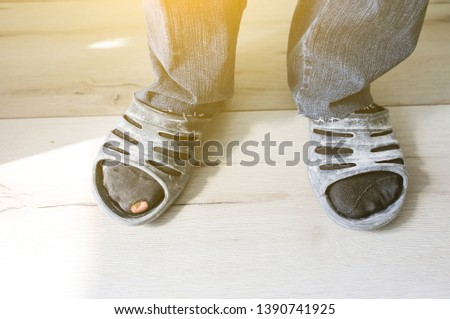 Construction worker dirty shoes Images and Stock Photos