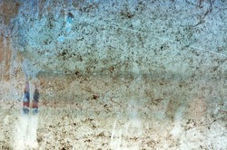 Dirty glass window, image is suitable as a background for your design.