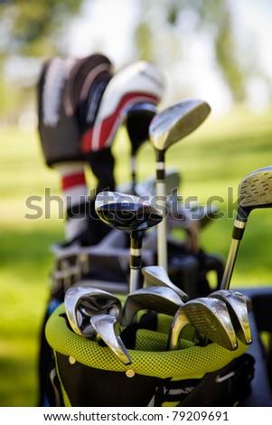 Dirty golf clubs