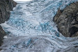 Dirty ice from the Buerbreen glacier in Norway