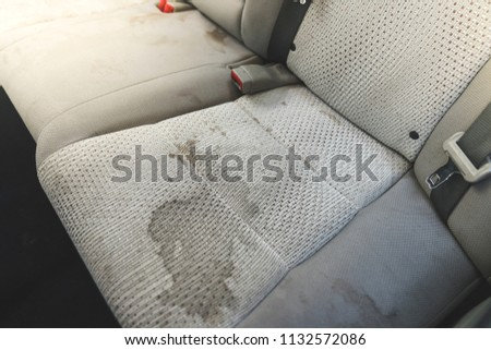 dirty  interior in the car. #1132572086