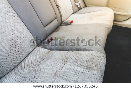 dirty  interior in the car. #1267355245