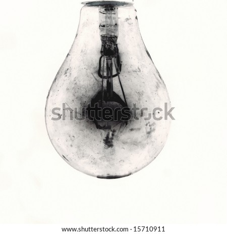 dirty old light bulb