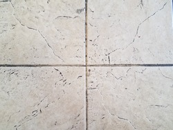 dirty or grimy white floor tiles or ground