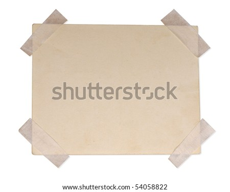 dirty piece of paper isolated on white