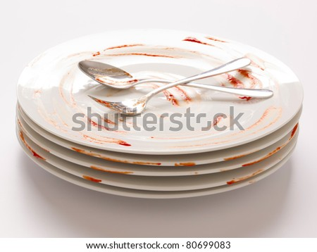 dirty plates