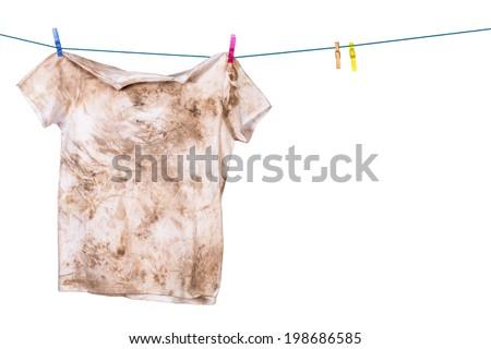 Shutterstock dirty shirt hanging to dry