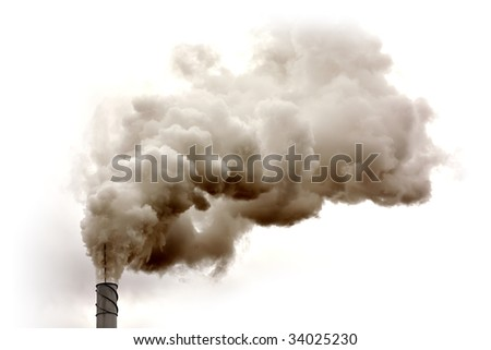 Dirty smoke isolated on the sky, ecology problems