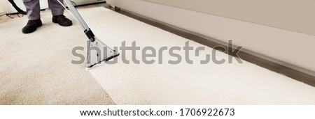 Dirty Stained Carpet Vacuum Cleaning Professional Service Stockfoto ©
