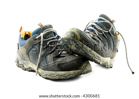 Dirty trekking shoes