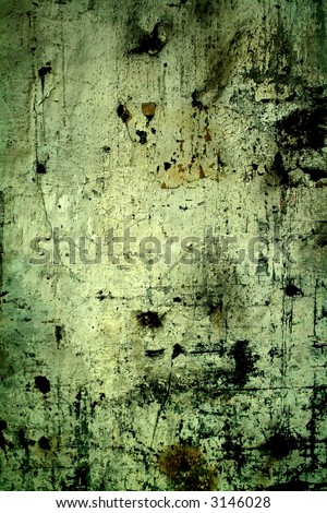 dirty wall in a deserted industrial building