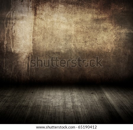 dirty wall with grunge floor in room style