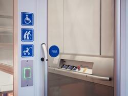 Disability signage lift facility Priority Public accessibility Universal design
