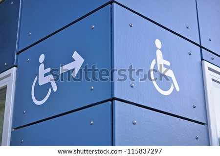Disable access sign - stock photo