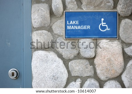 Disable lake manager sign