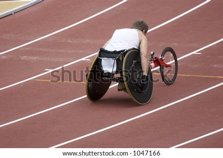 Disabled Athlete on the track
