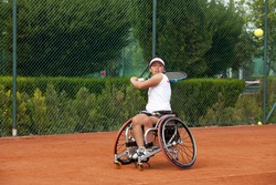 Disabled Japanese female tennis player.