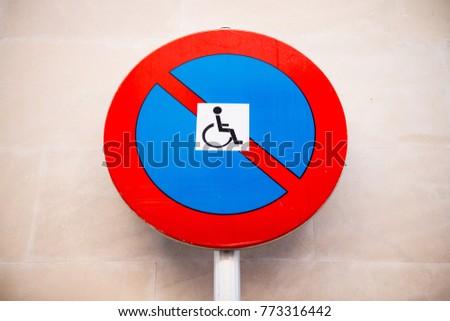 Disabled Parking Sign - Sign #773316442