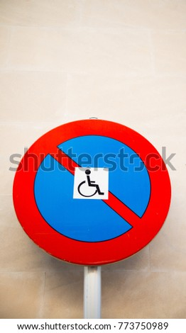 Disabled Parking Sign - Sign #773750989