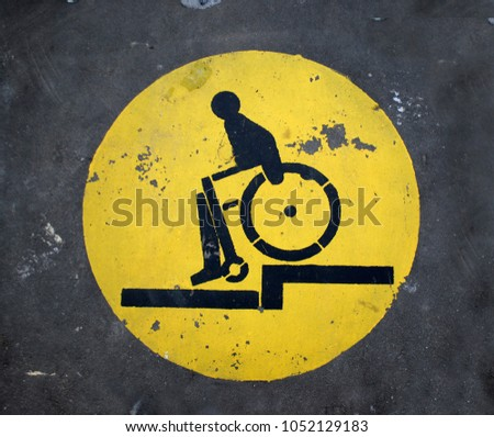Disabled sign, outdoor symbol #1052129183