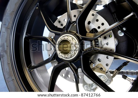 disc and sport motorcycle rim
