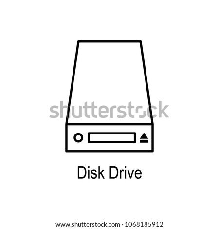 disc drives icon. Element of computer part for mobile concept and web apps. Thin line  icon for website design and development, app development. Premium icon