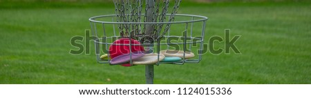 Disc Golf basket full of disc