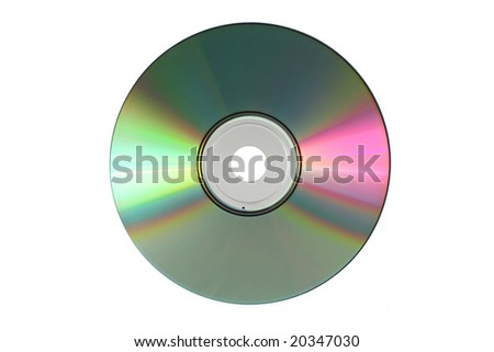 Disc isolated on white