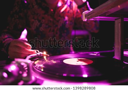 Disc Jockey playing some funky