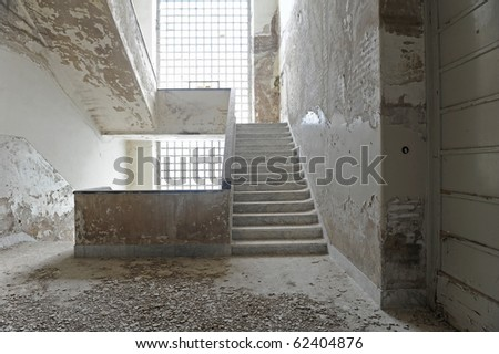 Discarded building interior.