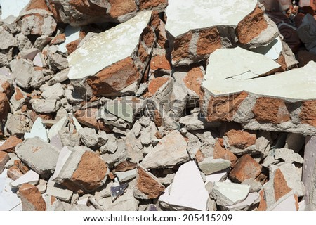Discarded building rubble