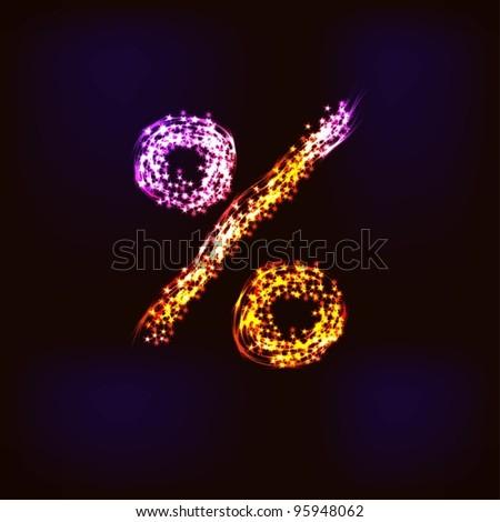 Disco alphabet. - stock photo
