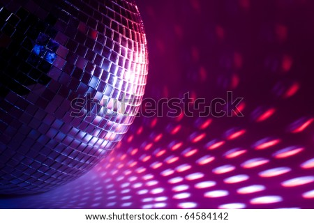 disco background - stock photo