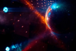 Disco ball and lights from the '70s and '80s