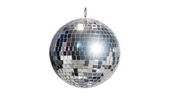 disco ball for dancing in a disco club on a white background