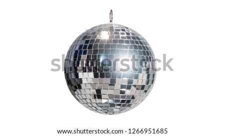 disco ball for dancing in a disco club on a white background #1266951685