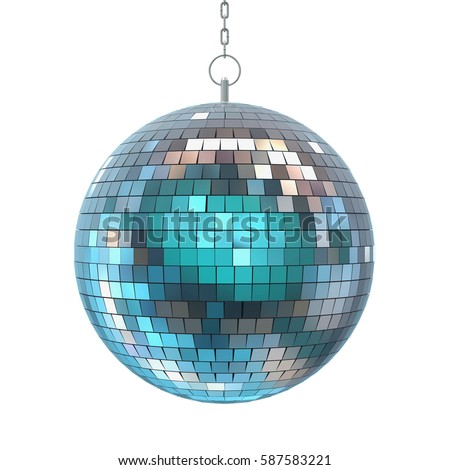 Disco Ball Isolated. 3D rendering
