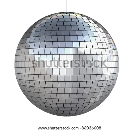 disco ball (isolated on white and clipping path)