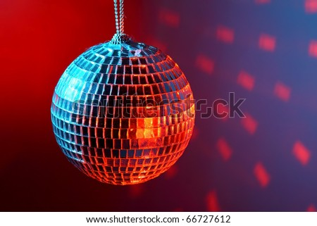 Disco ball on dark background