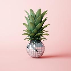 Disco ball pineapple concept