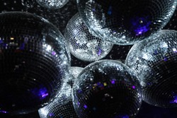 Disco balls in dark