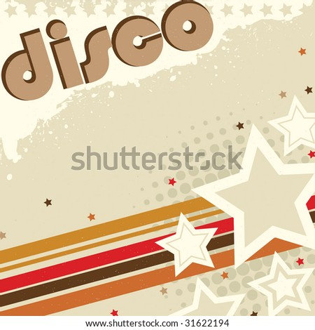 Disco Grunge Design - stock photo