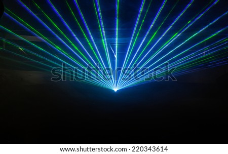 Disco light show, Stage lights with laser #220343614