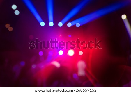 disco lights and show. Concept about entertainment and party. defocused image for an artistic touch