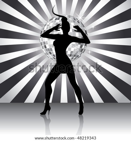 Disco queen silhouette (in the gallery also available vector version of this image)