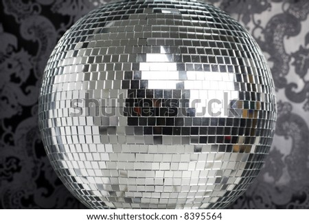 discoball with cool wallpaper background