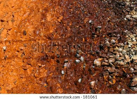 Discolored soil. - stock photo
