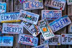 Discontinued License Plates from Around the Country on Display