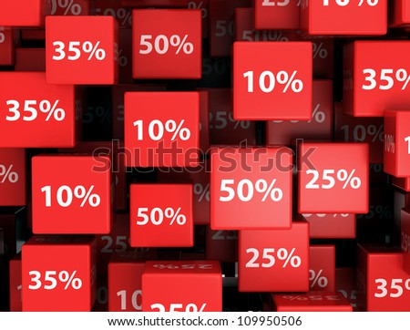 Discount Cube background Sale Concept