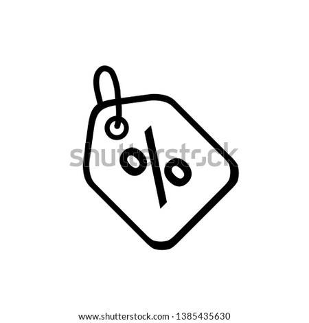 Discount icon in trendy flat style isolated on background. Discount icon page symbol for your web site design Discount icon logo, app. Discount icon illustration